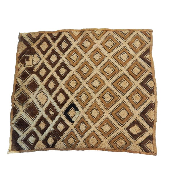 African Kuba Kasai Velvet Raffia Textile Zaire For Sale - Image 4 of 10