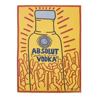 "Keith Haring ""absolut Vodka"" Window Board Poster For Sale"