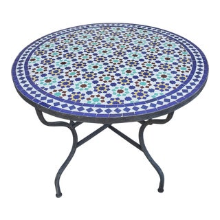 "40"" Settachia Multi-Color Mosaic Coffee Table For Sale"