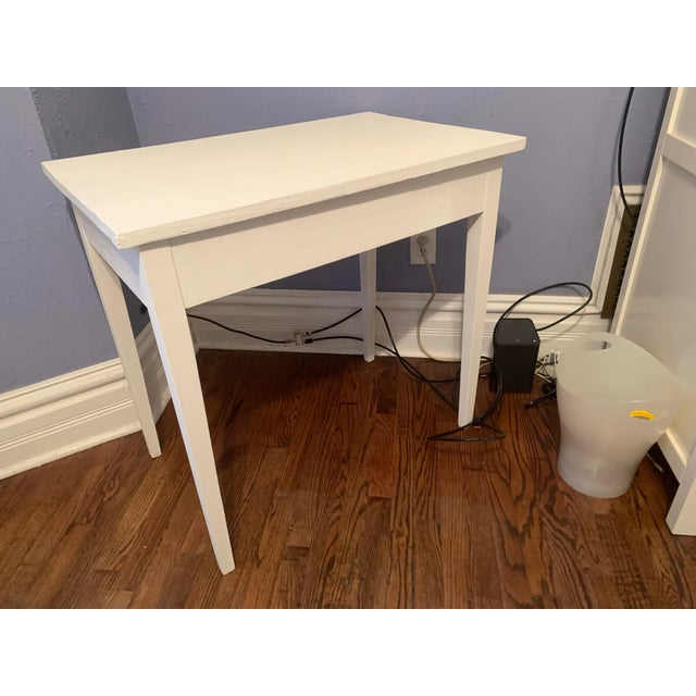 1960s Boho Chic Desk Painted in White Chalk Paint For Sale - Image 9 of 13