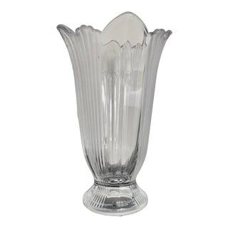 Vintage Art Deco-Style Tulip Glass Vase For Sale
