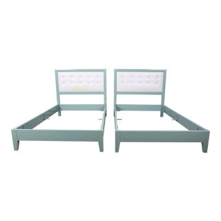 Kittinger Mandarin Collection Twin Beds, Pair For Sale