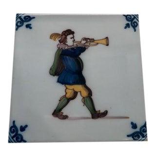 Royal Delft Decorative Tile For Sale
