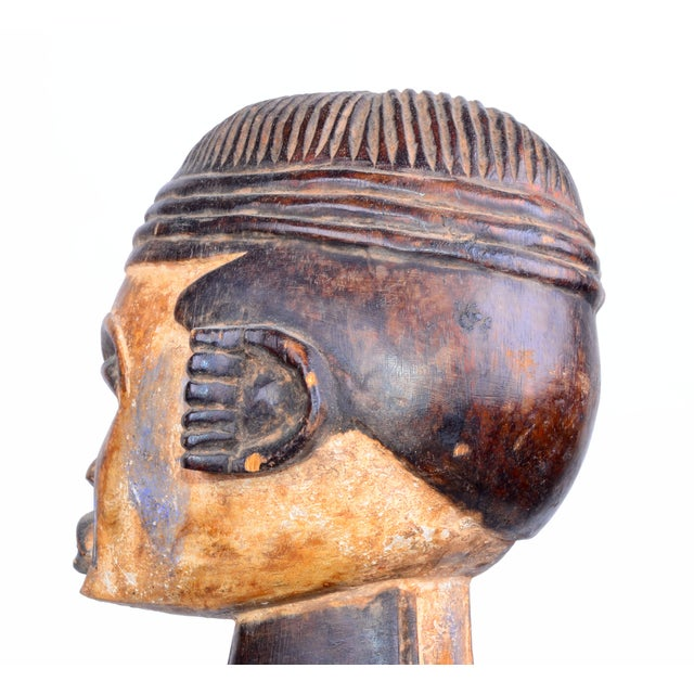 Vintage African Tribal Woman Sculpture - Image 6 of 9