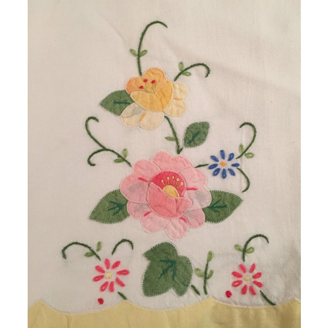 Springtime Floral Embroidered Tea Towels - a Pair - Image 3 of 5