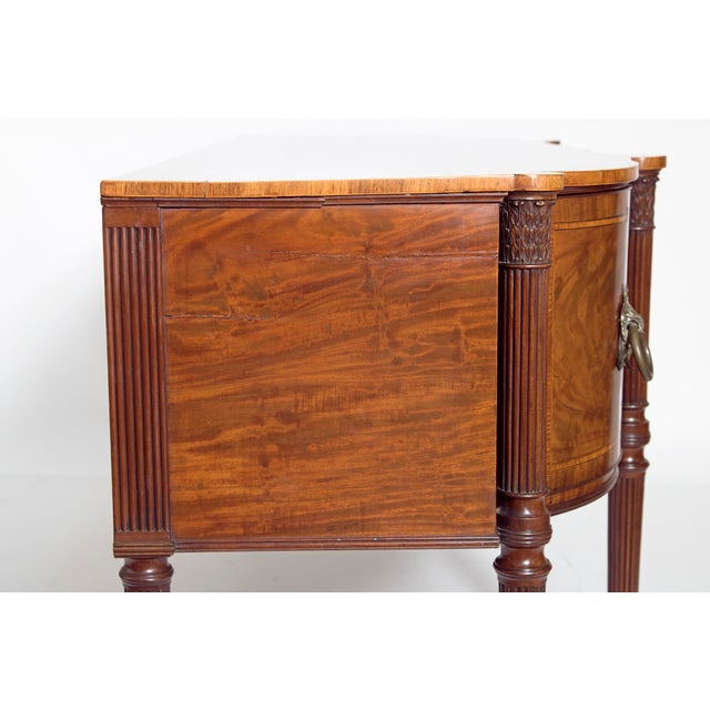 Gold Late 18th Century Mahogany George III Sideboard With Cellerette For Sale - Image 8 of 13