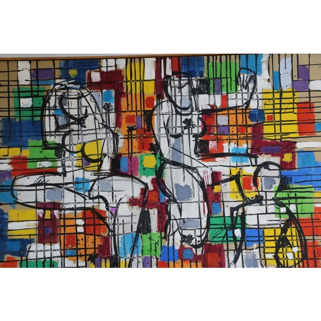 """Alvin M. Cohen Vintage """"Images In Colors"""" Painting For Sale In Baltimore - Image 6 of 7"""