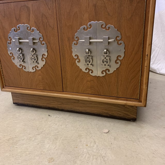 Solid Walnut Asian Chest End Tables -A Pair For Sale - Image 10 of 11