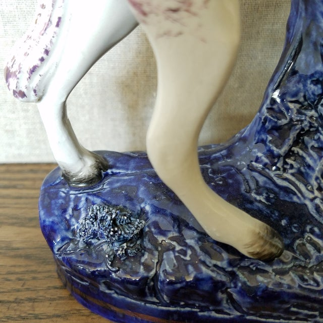 Vintage Staffordshire Style Horse For Sale In Dallas - Image 6 of 11