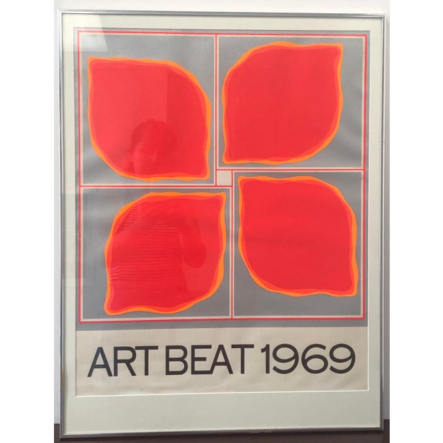 "1960s ""Art Beat 1969"" Vintage Poster For Sale - Image 5 of 5"