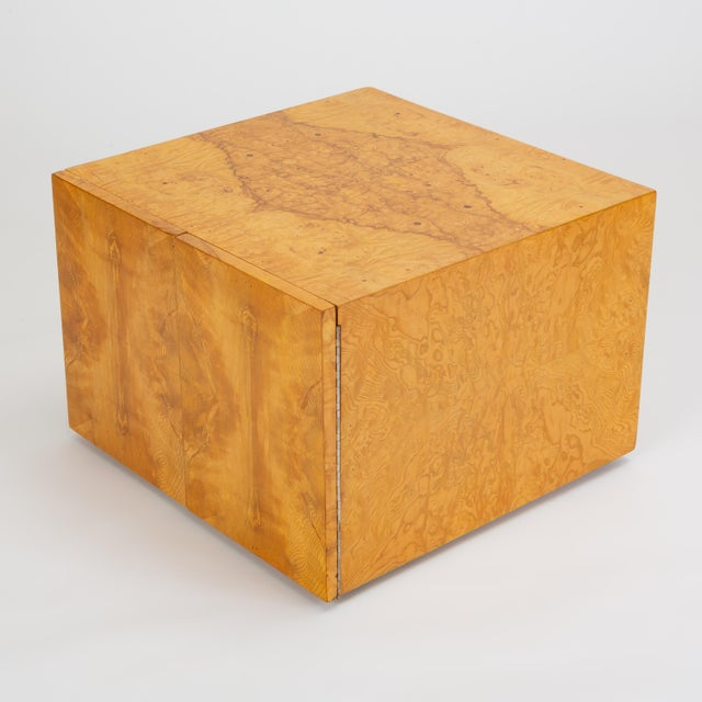 Burlwood Pair of Burl Wood Side Tables or Blanket Chests For Sale - Image 7 of 13