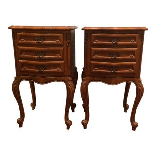 Bedside Tables in Walnut - A Pair