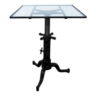 1930s Industrial Adjustable Satellite Table For Sale