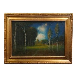 James Everett Stuart- Near Terrytown New Jersey - Oil Painting 1921