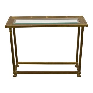 Petit Brass Console Table For Sale