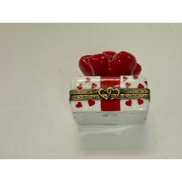 Limoges France Hand Painted Bow Box - Image 2 of 5