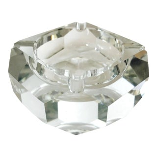 Mid-Century Modern Faceted Crystal Ashtray, France 1960s For Sale