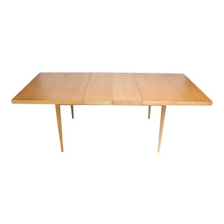 Paul McCobb Maple Extendable Dining Table For Sale