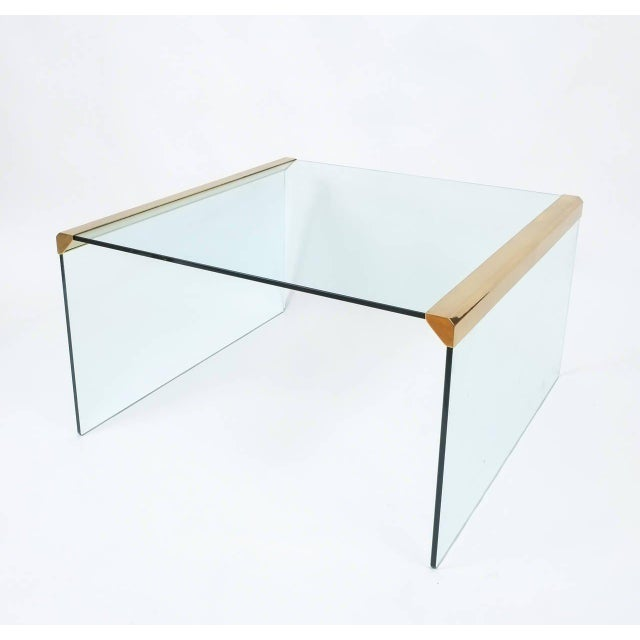 Italian Clear Glass Coffee Table by Pierangelo Galotti for Galotti & Radice,1970 For Sale - Image 6 of 6