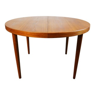 Danish Round teak table with secret drawer - Skjold