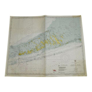 1952 United States Gulf Coast Florida Sombrero Key to Sand Key Nautical Chart No. 1251 For Sale