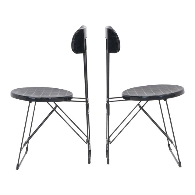 Set of 6 Cricket Folding Chairs by Andries Van Onck & Kazuma Yamaguchi for Magis For Sale