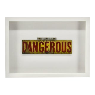 Danger Sign, Vintage, Framed Wall Decor Art For Sale