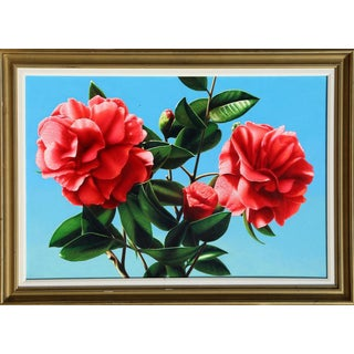 Hilo Chen, Camellia, Painting 1989 For Sale