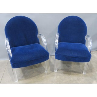 Pair of Pace Collection Lucite Waterfall Dining or Side Chairs Circa 1980 Preview