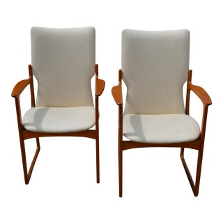 Vintage Danish Modern Teak Arm Chairs by Vamdrup Stolefabrik- a Pair For Sale