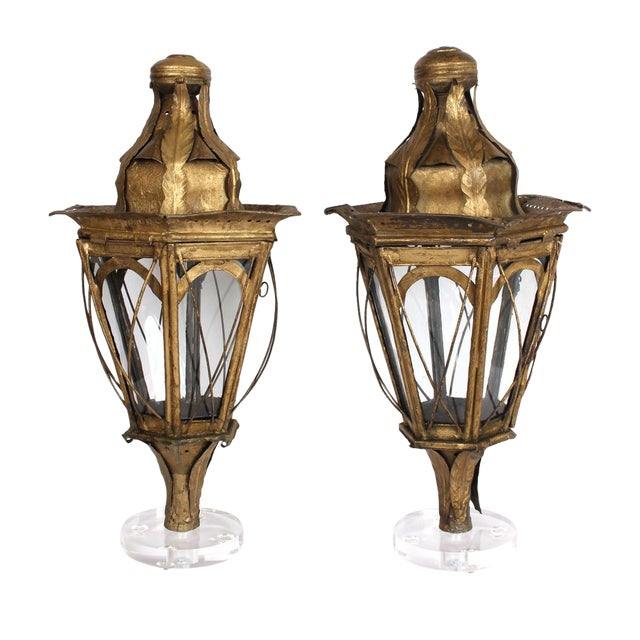 Pair of 19th Century Italian Processional Lanterns For Sale