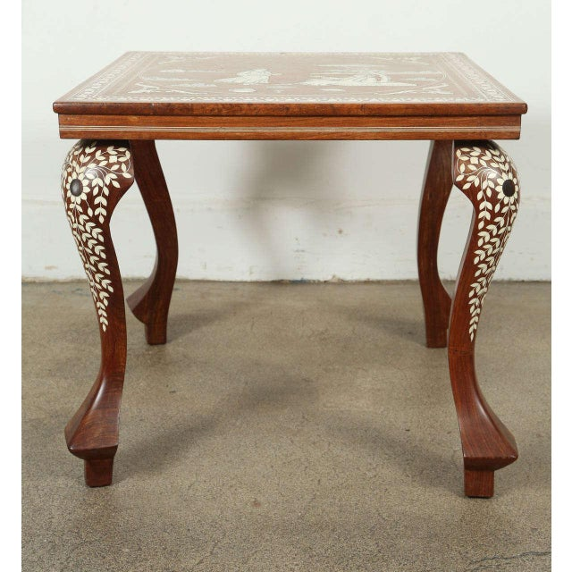 Anglo Indian Inlaid Square Side Table For Sale In Los Angeles - Image 6 of 10