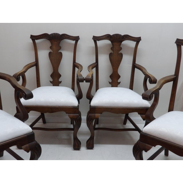 American Vintage Carved Wood Dining Chairs - Set of 4 For Sale - Image 3 of 8