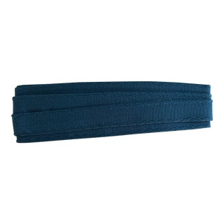 "Samuel & Sons 1"" Sabine Caribe Blue Grosgrain Ribbon Trim- 2 1/2 Yards For Sale"
