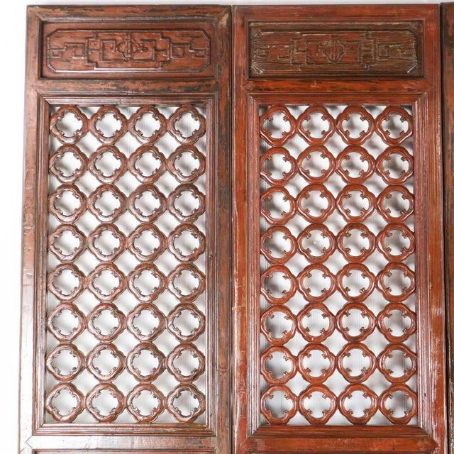 4 Antique Chinese Carved Courtyard Doors 21 Inch Wide 87 Tall. Sold as a Set of 4. SKU # LL-11806 This beautiful set of...