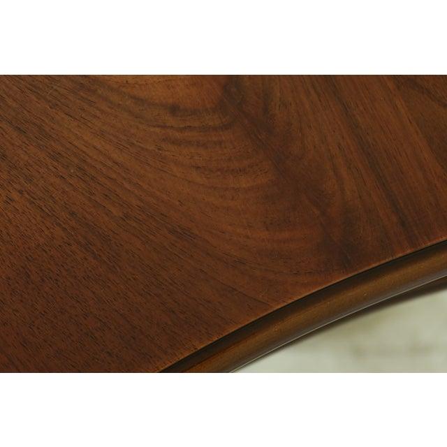 Wood Arredamenti Italian Made Kidney Shaped Inlaid Walnut Vanity For Sale - Image 7 of 11