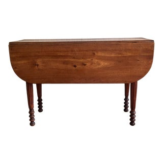19th Century Country Drop Leaf Table For Sale