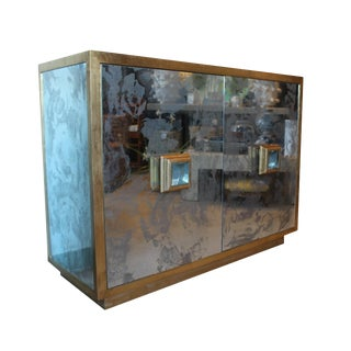 "Credenza With ""antique"" Glass For Sale"