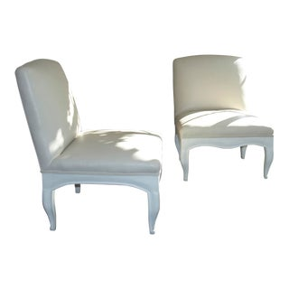 York Street Hand Crafted French Side Chairs - A Pair For Sale