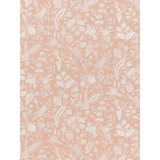 Scalamandre Tulia Linen Print, Blush Fabric For Sale