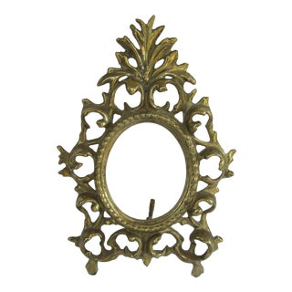 Rococo Brass Picture Frame For Sale