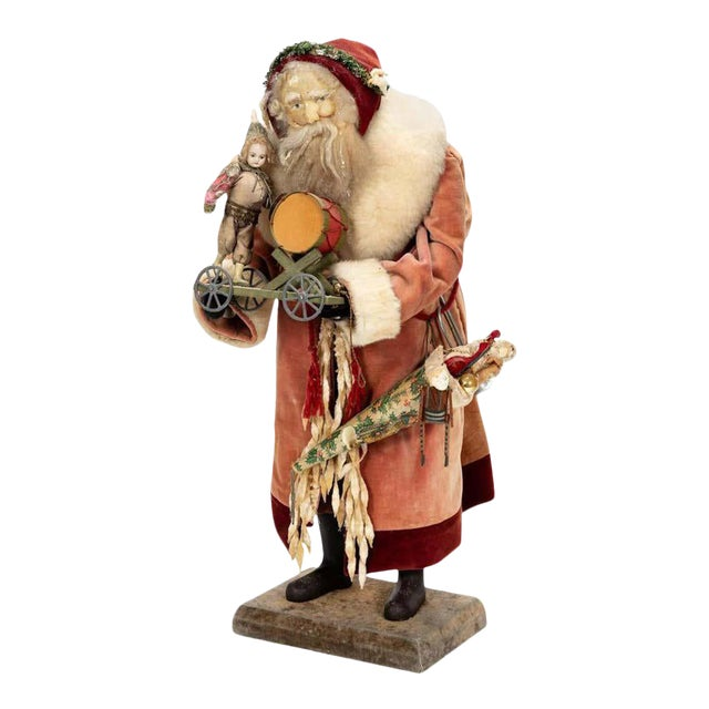 Large Vintage Father Christmas Figure For Sale
