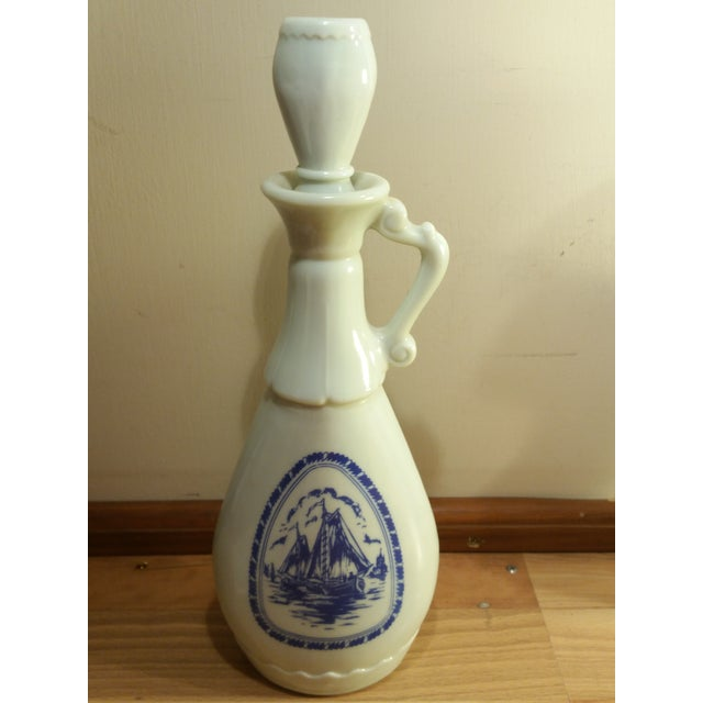 Vintage Jim Beam Milk Glass Decanters - A Pair - Image 6 of 8