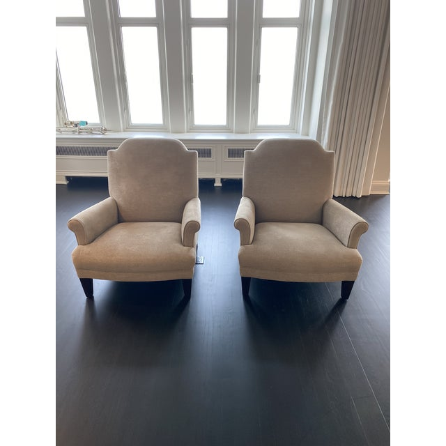 Holly Hunt Gray Chairs - A Pair For Sale - Image 9 of 9