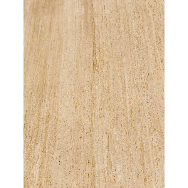 Stone Italian Round Travertine Stone Dining or Center Table For Sale - Image 7 of 8