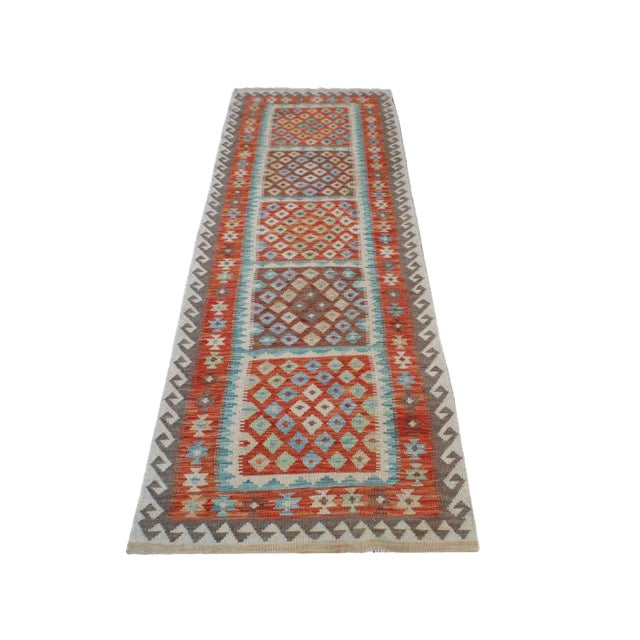 Handmae Vegetable Dyed Kilim Runner- 2′9″ × 9′6″ - Image 1 of 5