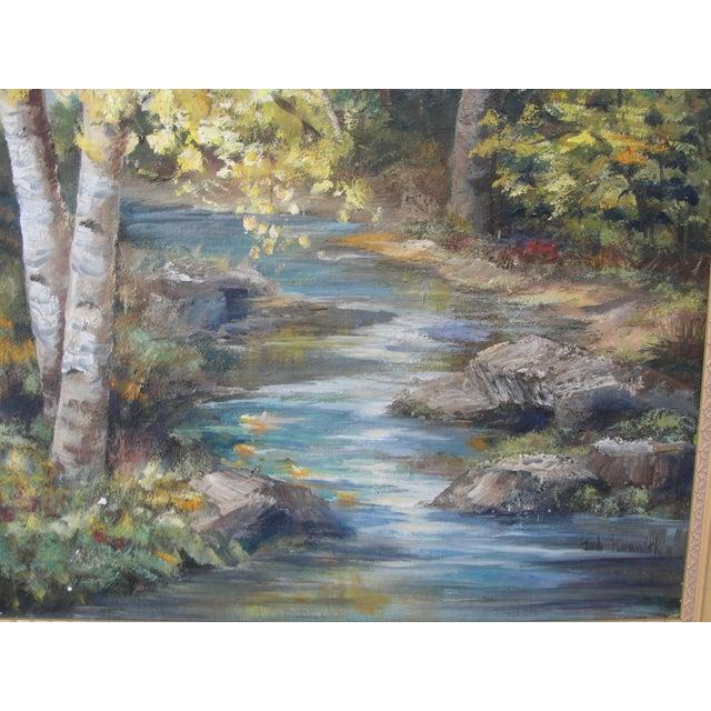 Vintage Impressionist Oil on Board Landscape Painting - Image 4 of 9