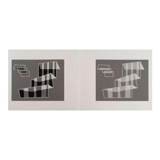 Mid-Century Modern Josef Albers Silkscreen For Sale