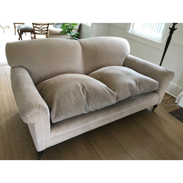 """Excellent pair of George Smith """"Signature Scroll Arm Signature Sofas"""". George Smith is the manufacturer and purveyor of..."""