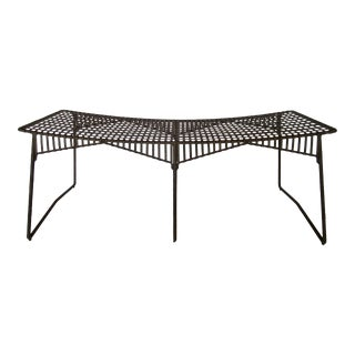 """C.1996-2000 Gregorius Pineo Hand-Forged Twig Iron, Faux Bois Lattice-Strapped """"Tuilerie Bench"""" For Sale"""